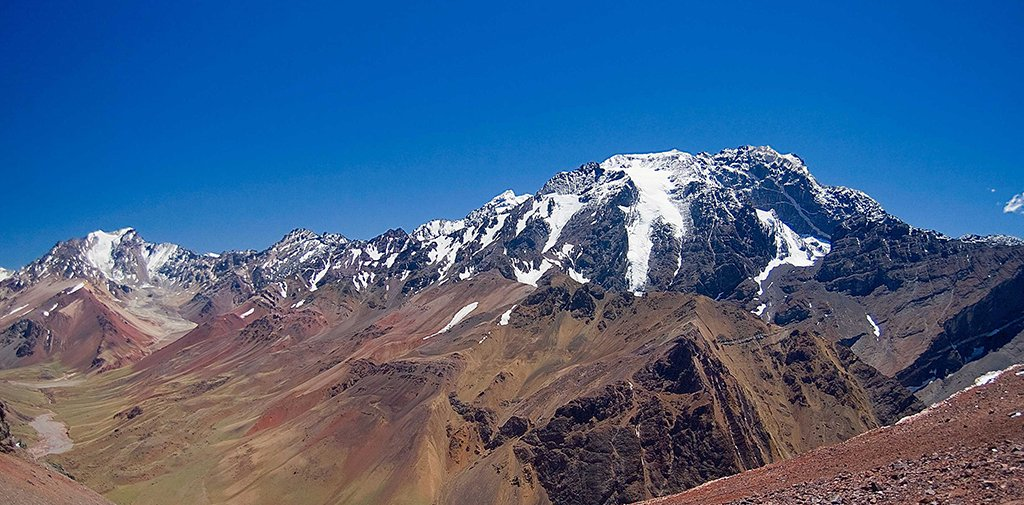View of Aconcagua in Argentina