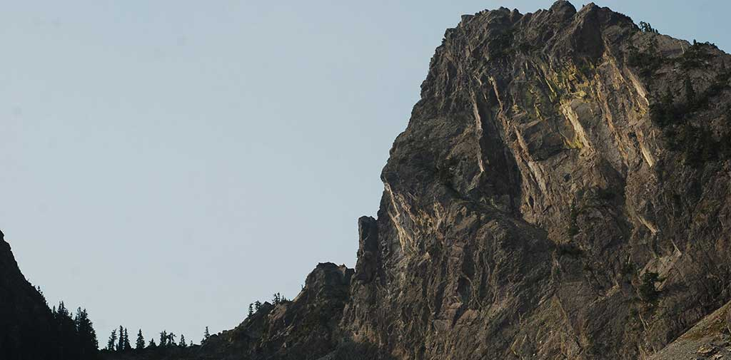 The Tooth at Dawn at Snoqualmie Pass near Seattle