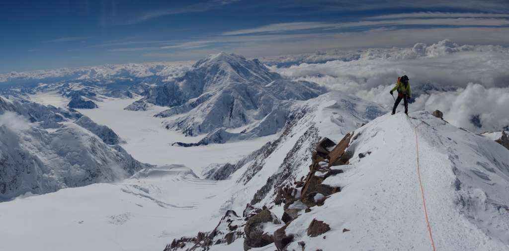 A climber on Denali