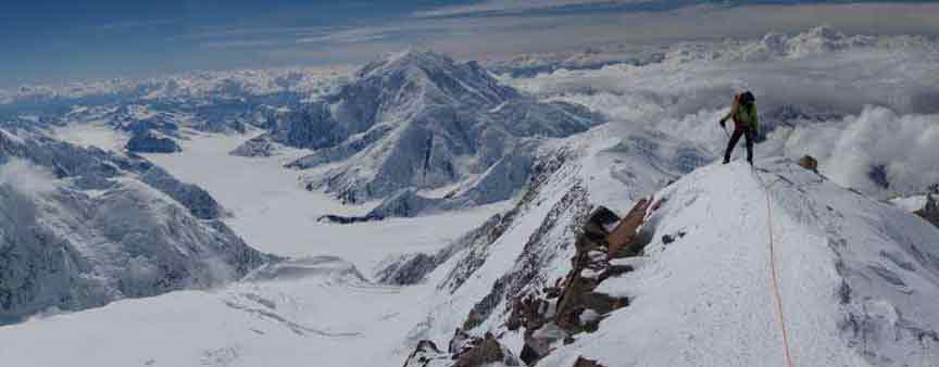A climber on Denali