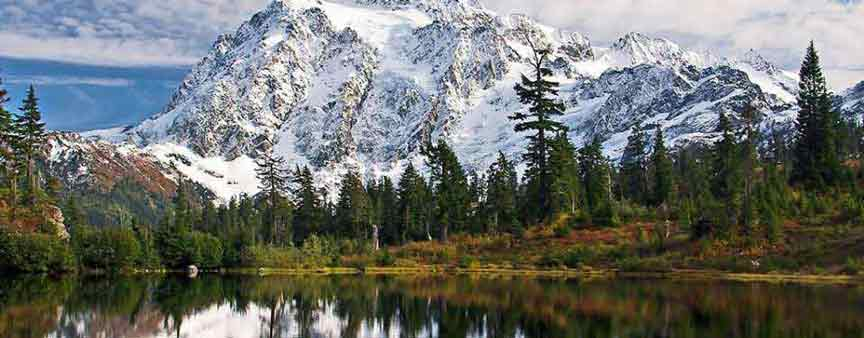 Mount Shuksan Cover in Snow