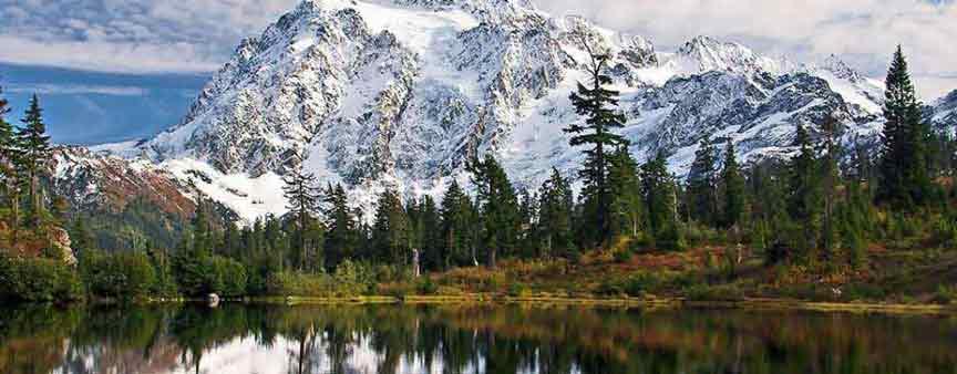 Mount Shuksan Cover in Snow