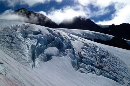 Crevasses on Upper Price Glacier Mt. Shuksan
