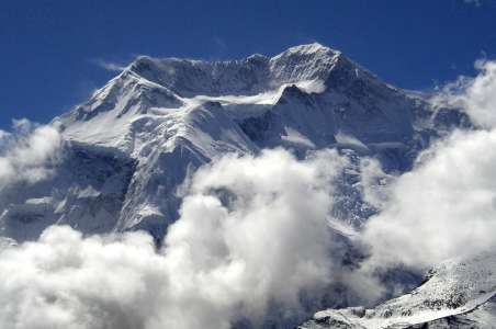 Annapurna peaking through the clouds