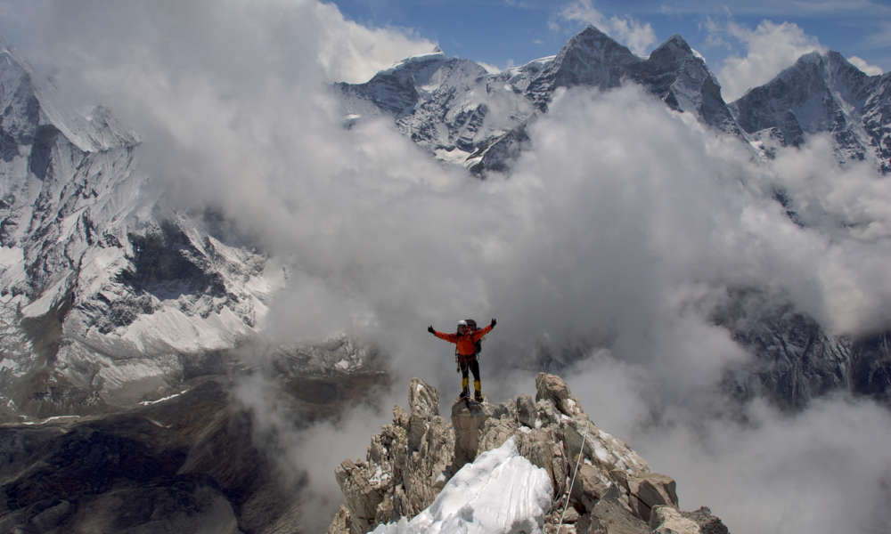 Climber Near Everest Base Camp