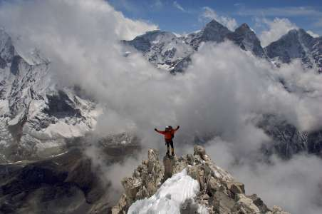 Climber Near Everest Base Camp
