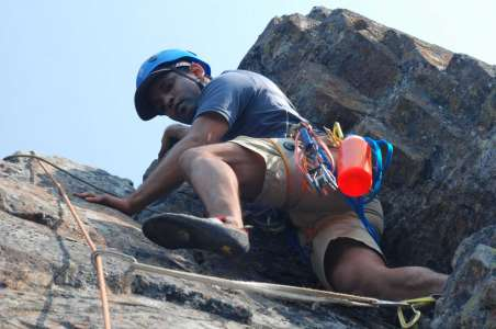 Climbing at the Tooth at Snoqualmie Pass near Seattle