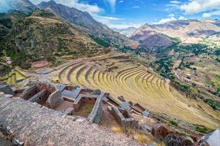 Terraced hills in Machu Pichu