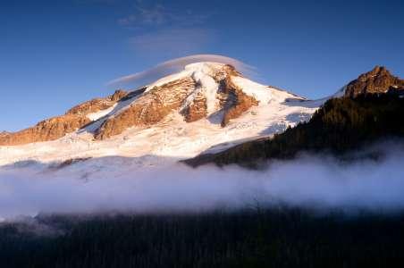 Lenticular clouds over Mt Baker