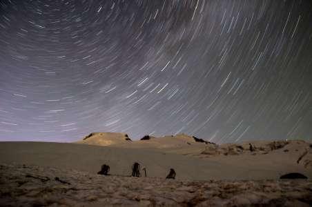 Star Trails over Mt Baker