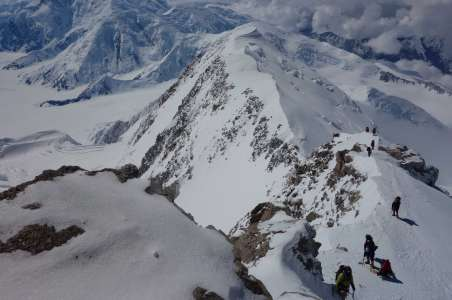 Climbers on the way to 17K camp on Denali