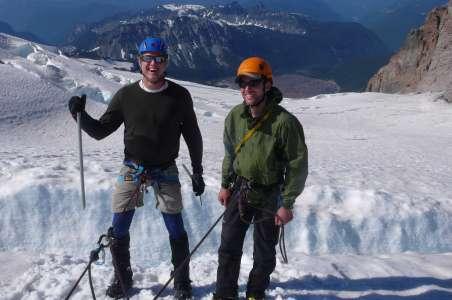 Climbers preparing for Denali