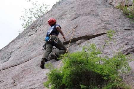 A Climber teaches Rock Climbing