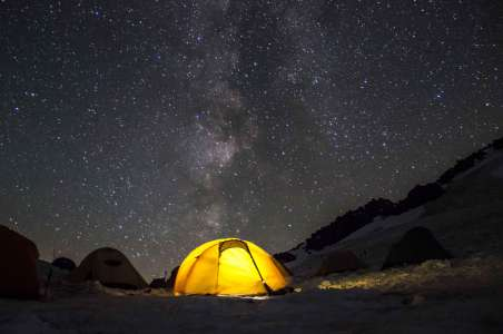 Camping on the Milky Way