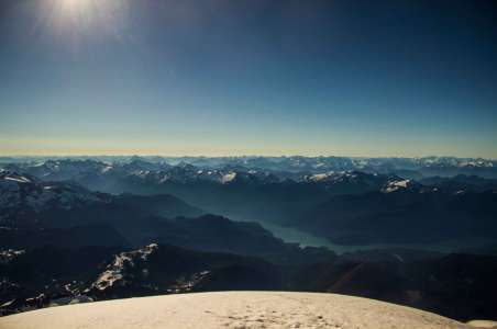 View of the North Cascades from Mt Baker