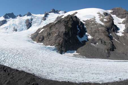 Olympus Summit with a glacier