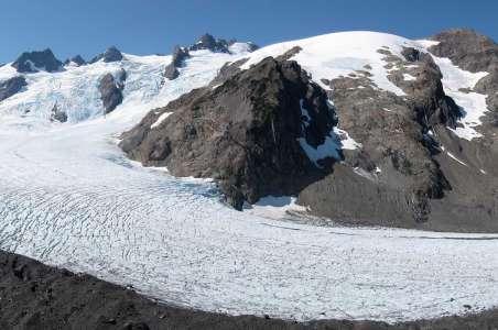 Olympus Summit with a glacier