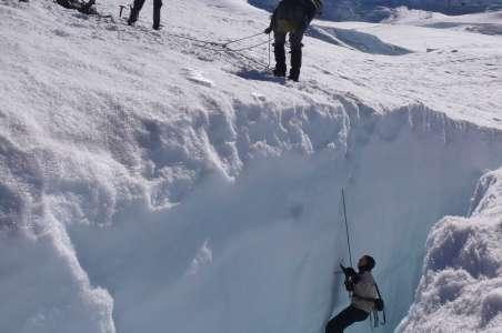 Climbers practice Crevasse skills for Denali