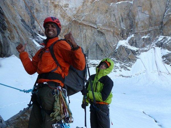 Climbers Celebrating