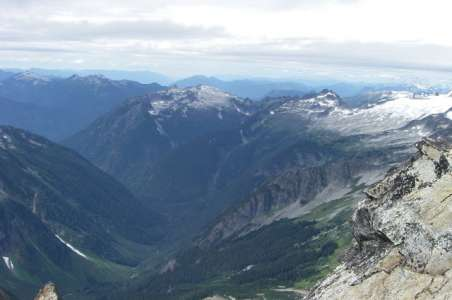 View of the Cascades from Sahale