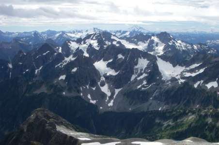 View of the Cascades from Sahale Peak