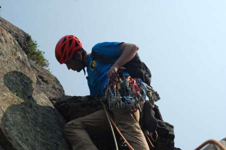 Climbing the Tooth at Snoqualmie near Seattle