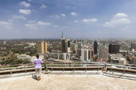 Bird's eye view of Nairobi from KICC