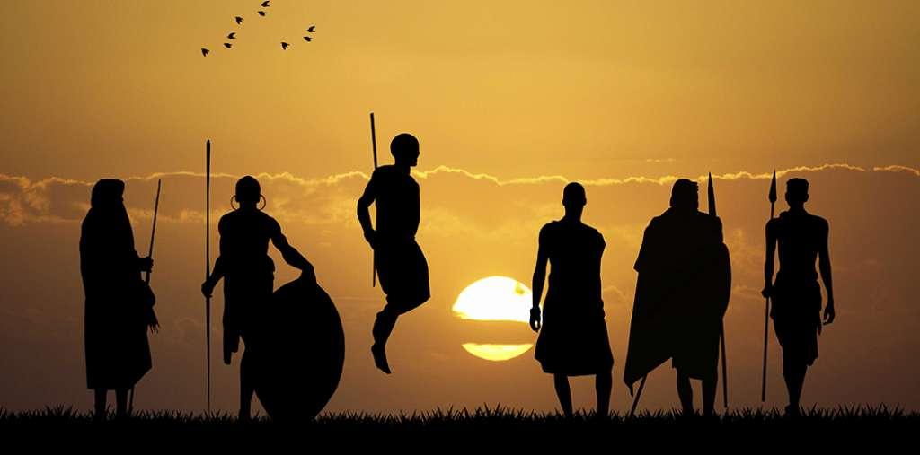 Masai at sunset