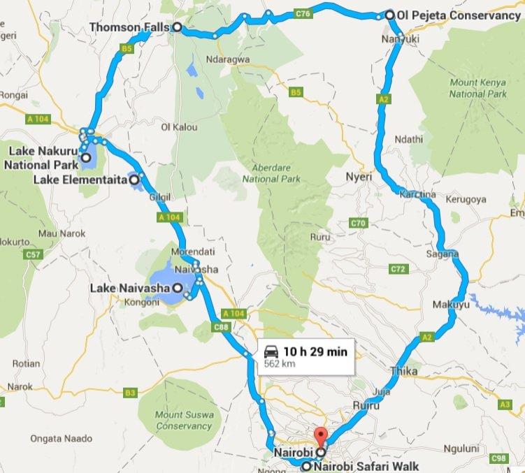 itinerary-map-kenya