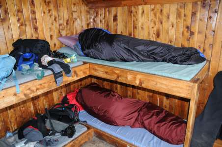 The inside of one of the cabins on Kilimanjaro
