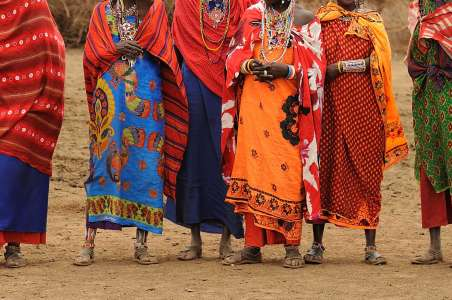 Masai women in Kenyan village