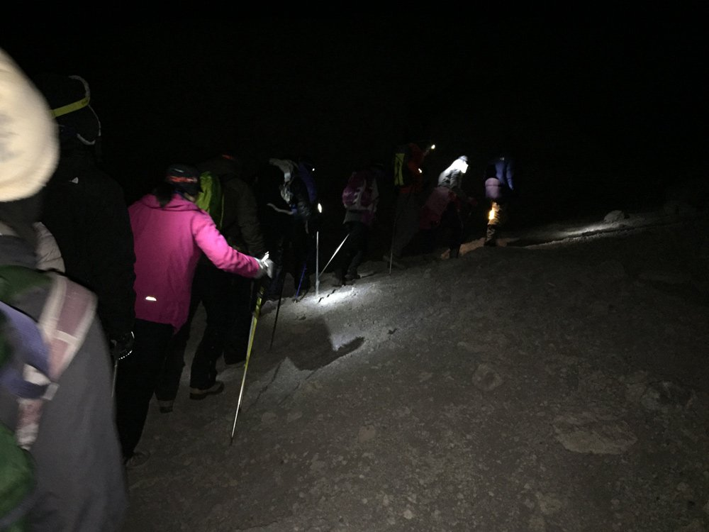 Summit push at midnight (Day 6)