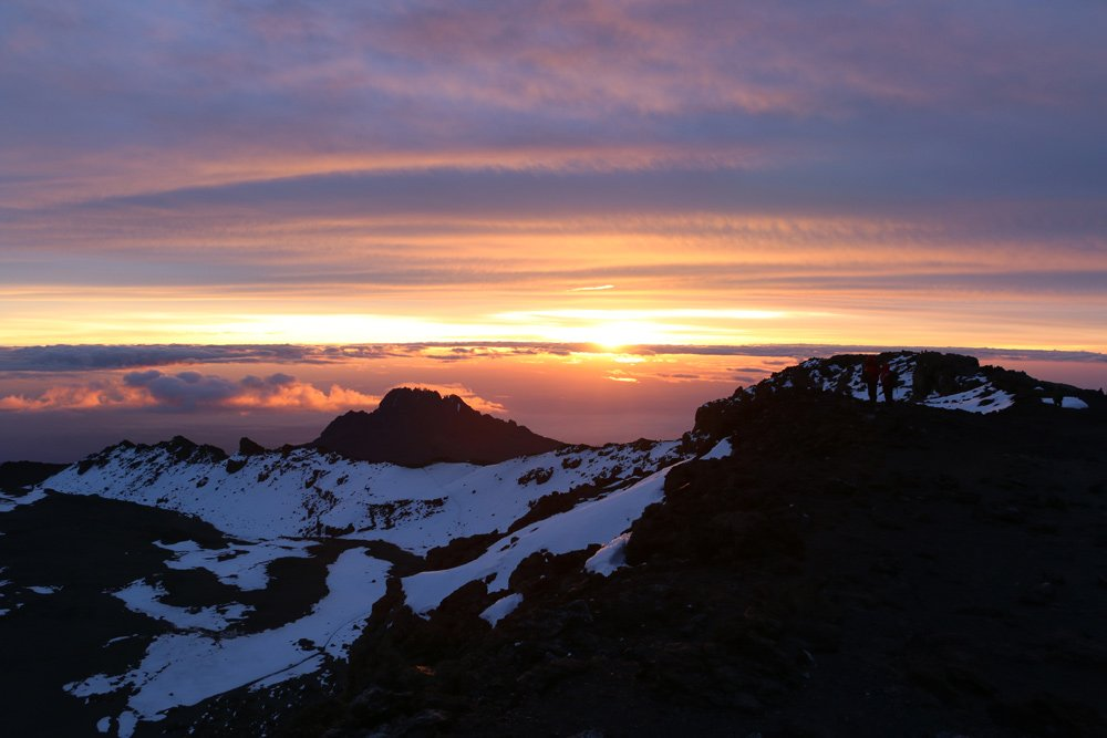 Glorious dawn at Kilimanjaro summit (Day 6)