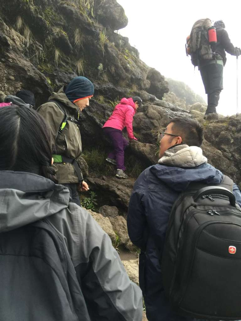 Steep ascent on Barranco wall (Day 4)