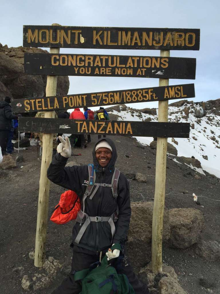 Chad at Kilimanjaro summit (Day 6)